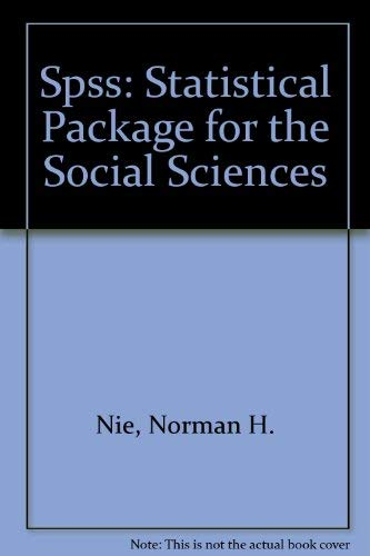 9780070465329: Spss: Statistical Package for the Social Sciences