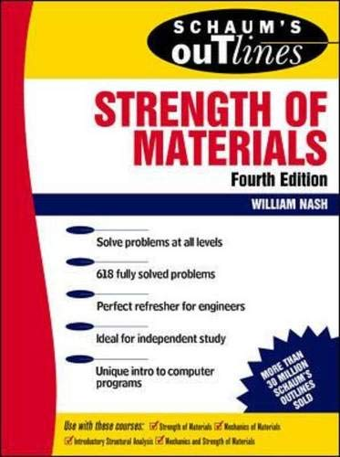 9780070466173: Schaum's Outline of Strength of Materials 4th Edition