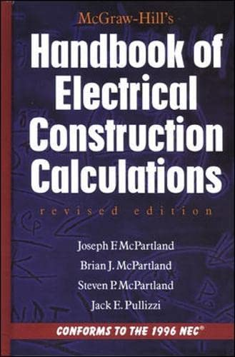 9780070466418: McGraw-Hill Handbook of Electrical Construction Calculations, Revised Edition (P/L Custom Scoring Survey)