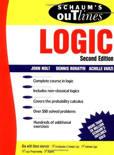 9780070466494: Schaum's Outline of Logic