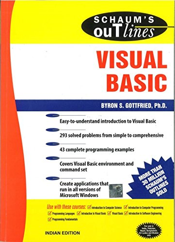 9780070474390: [Schaum's Outline of Visual Basic] [by: Byron S. Gottfried]