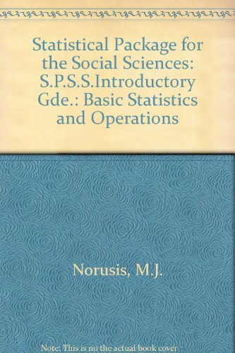 9780070475281: Spss Introductory Guide: Basic Statistics and Operations