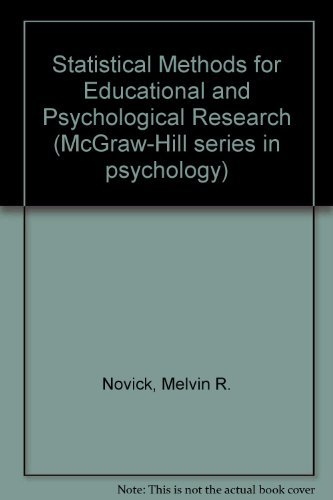 9780070475502: Statistical Methods for Educational and Psychological Research (McGraw-Hill series in psychology)