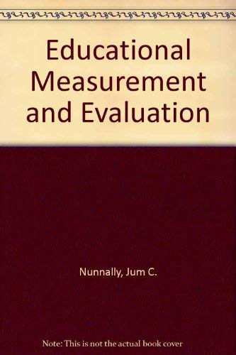 9780070475533: Educational Measurement and Evaluation