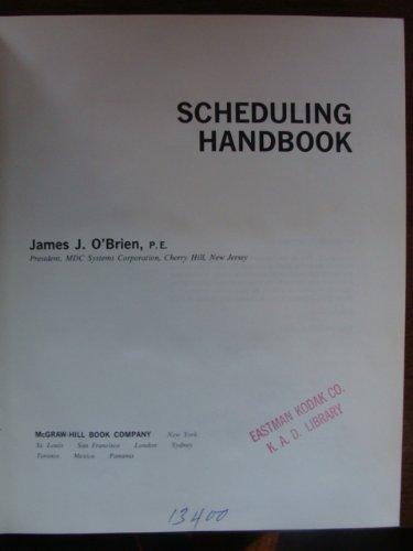 9780070476011: Scheduling Handbook