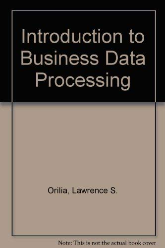 9780070478350: Introduction to Business Data Processing