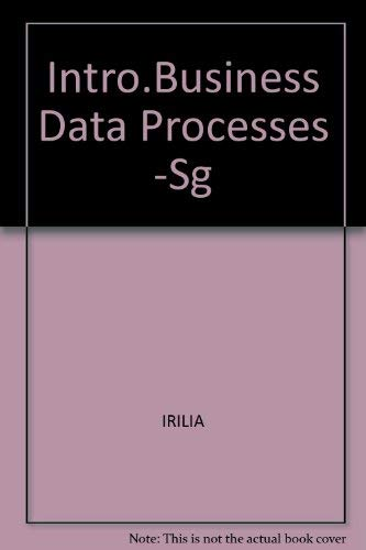 9780070478381: Study Guide to Accompany Introduction to Business Data Processing