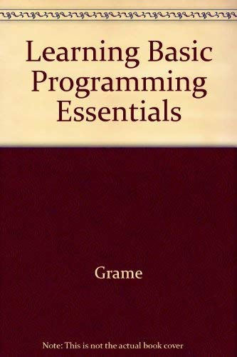 9780070479074: Learning Basic Programming Essentials