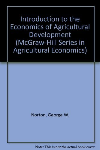 9780070479227: Introduction to Economics of Agricultural Development (McGraw-Hill Series in Agricultural Economics)
