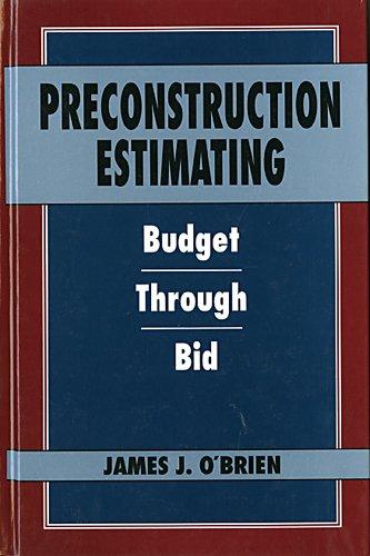 9780070479289: Preconstruction Estimating: Budget Through Bid