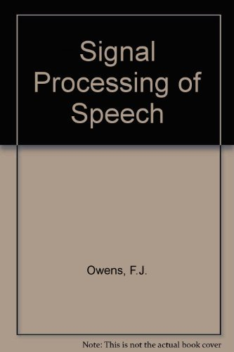 9780070479555: Signal Processing of Speech