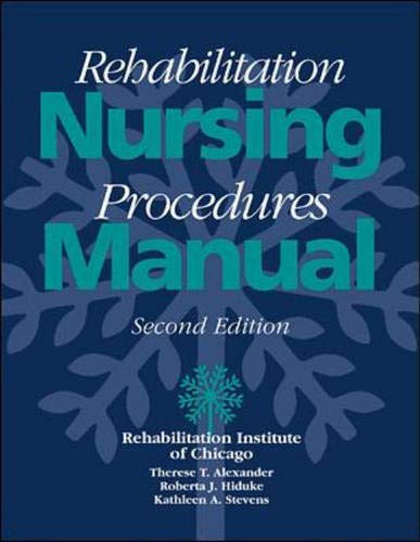 9780070482661: Rehabilitation Nursing Procedures Manual, 2/e