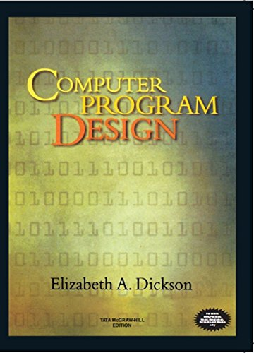 9780070483996: Computer Program Design