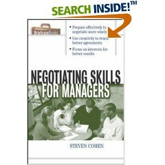 9780070486331: Negotiating Skills for Managers