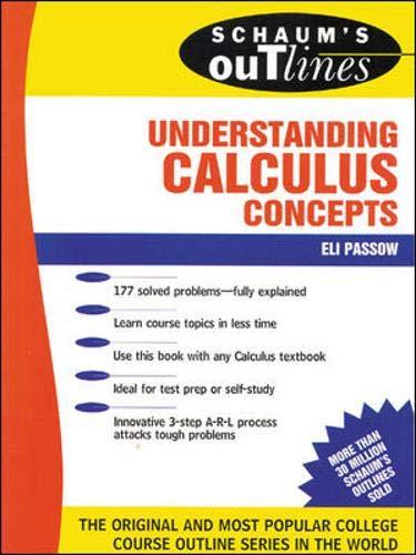 9780070487383: Schaum's Outline of Understanding Calculus Concepts