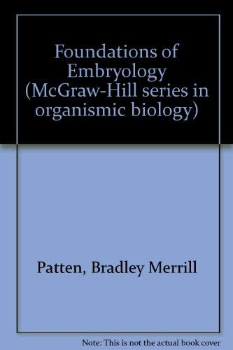 9780070487970: Foundations of embryology (McGraw-Hill series in organismic biology)