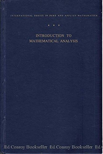 9780070488458: Introduction to Mathematical Analysis (International Series in Pure and Applied Mathematics)