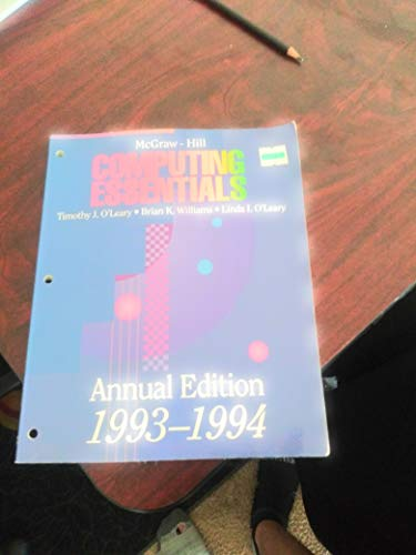 9780070488687: McGraw Hill Computing Essentials Annual Edition 1993 1994 (McGraw-Hill Microcomputing Annual Editions)