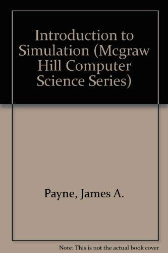 9780070489455: Introduction to Simulation Programming Techniques and Methods of Analysis (MCGRAW HILL COMPUTER SCIENCE SERIES)