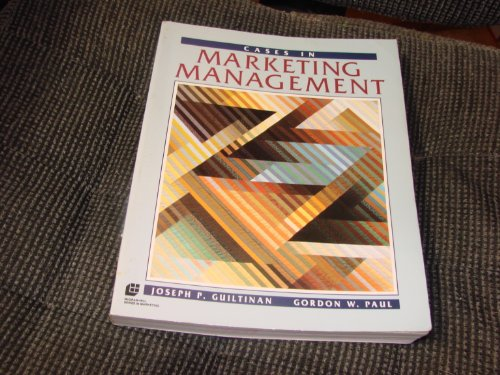 9780070489479: Cases in Marketing Management
