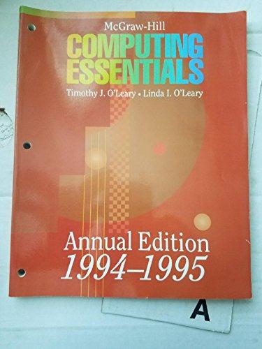 9780070489844: McGraw Hill Computing Essentials 1994-1995 (Mcgraw Hill Computing Essentials Annual Edition)