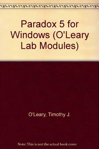 9780070490673: Paradox 5.0 Windows (O'Leary Series)