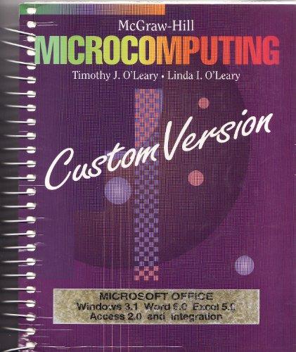 9780070490864: Microsoft Windows 3.1 (O'Leary Series)