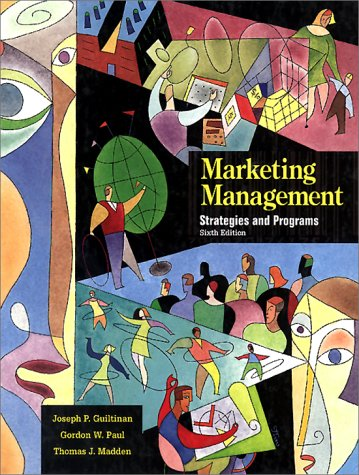 9780070490970: Marketing Management: Strategies and Programs