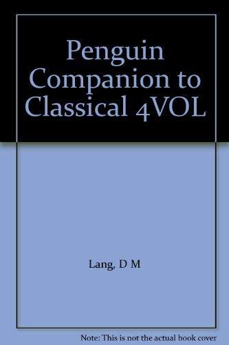 9780070492820: Penguin Companion to Classical 4VOL