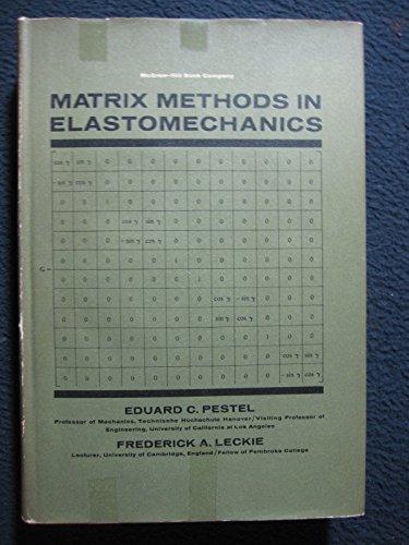 9780070495203: Matrix Methods in Elasto Mechanics