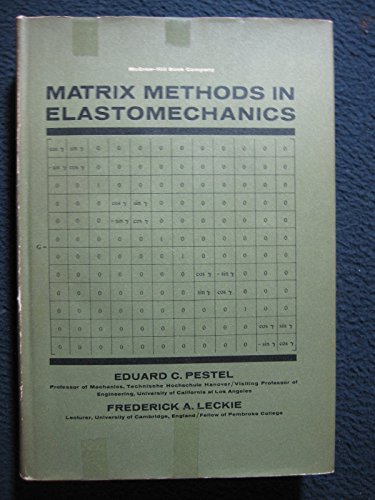 9780070495203: Matrix Methods in Elasto Mechanics