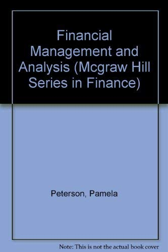 9780070496675: Financial Management and Analysis (Mcgraw Hill Series in Finance)