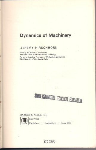 9780070497702: Dynamics of Machinery
