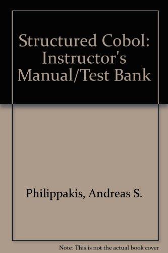 9780070498105: Structured Cobol: Instructor's Manual/Test Bank