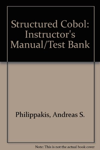9780070498105: Structured Cobol: Instructor's Manual/Test Bank