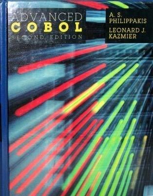Advanced Cobol: Philippakis, A.S und Leonard J Kazmier: