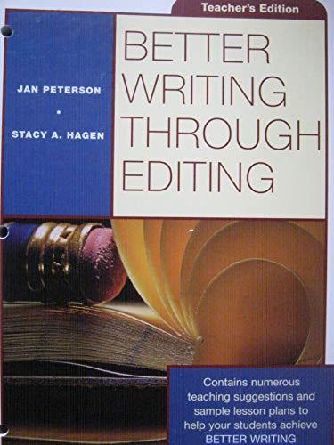 9780070498860: Better Writing Through Editing