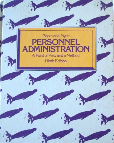 9780070499713: Personnel Administration