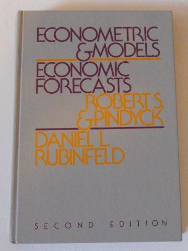 9780070500969: Econometric Models and Economic Forecasts