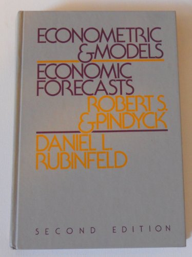 9780070500969: Econometric Models and Economic Forecasts