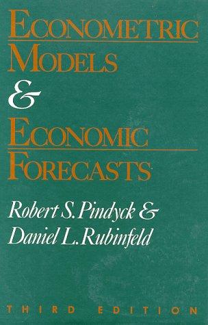 9780070500983: Econometric Models and Economic Forecasting