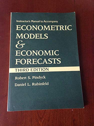 9780070500990: Econometric Models and Economic Forecasts: Instructor's Manual