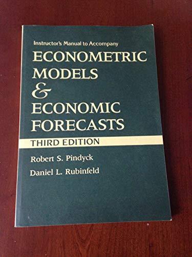 9780070500990: Econometric Models and Economic Forecasts: Instructor's Manual