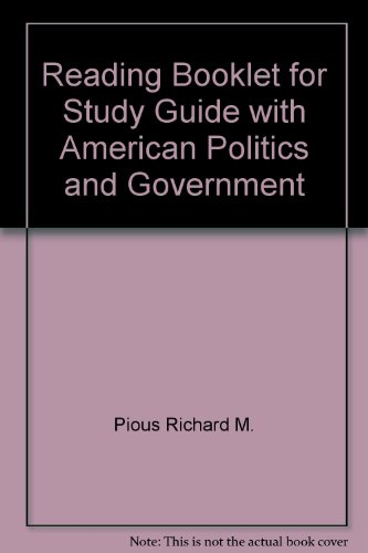 9780070501256: Reading Booklet for Study Guide with American Politics and Government