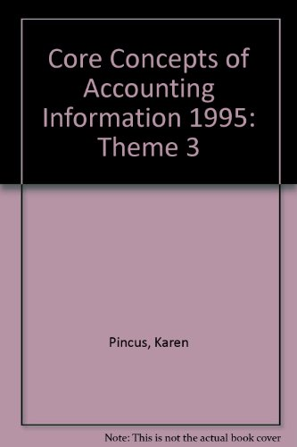 9780070501751: Core Concepts of Accounting Information 1995: Theme 3 (Core Concepts of Accounting Information, 1994-1995 Edition ()