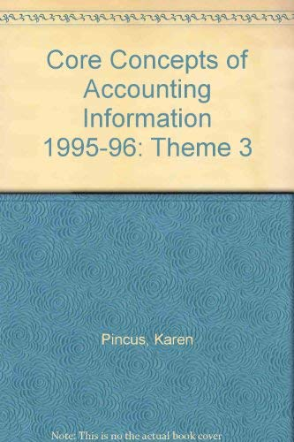 9780070501997: Core Concepts of Accounting Information: Theme 3