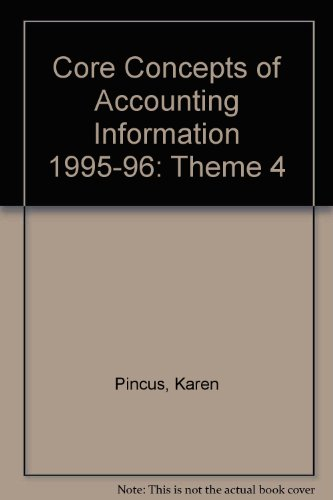 9780070502000: Core Concepts of Accounting Information 1995-96: Theme 4