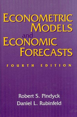 9780070502086: Econometric Models and Economic Forecasts