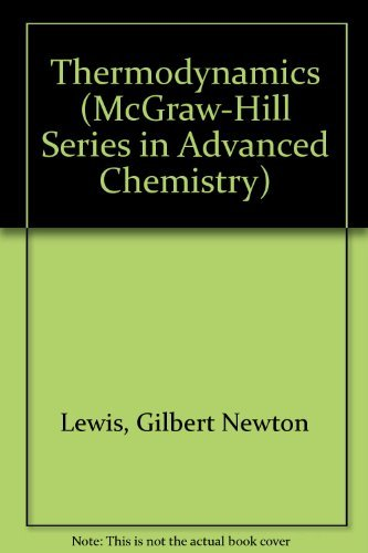 9780070502215: Thermodynamics (Mcgraw Hill Series in Advanced Chemistry)