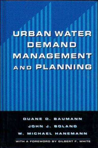 9780070503014: Urban Water Demand Management and Planning